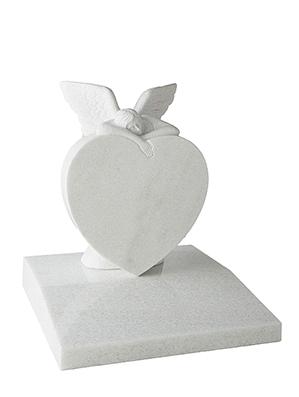 Angel and Heart Chlidrens Headstone