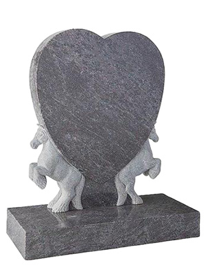 Dunblane Heart Shaped Headstone