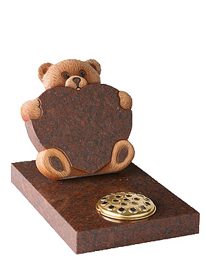 Teddy & Heart Chlidrens Gravestones