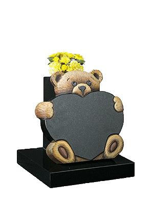 Teddy and Heart 3D baby Gravestones